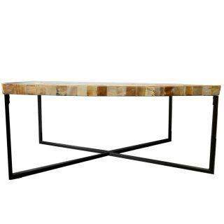 WHITE CENTER TABLE HORN LOUNGE 108 X 54 X 48 CM