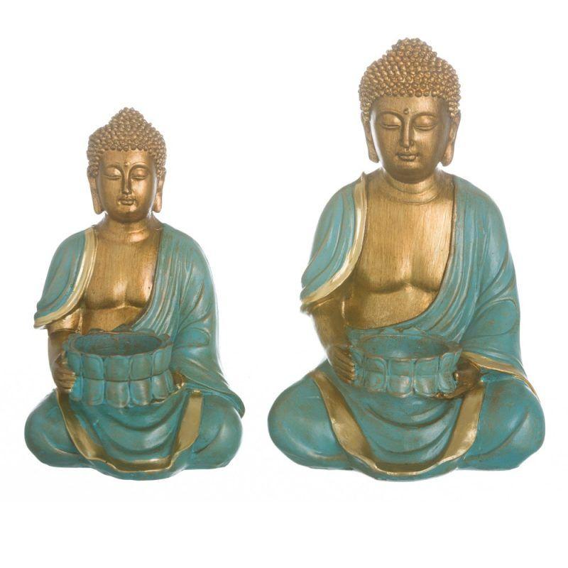 FIGURE BUDDHA POLYRESIN DECORATION 15.80 X 13.00 X 23.50 Cm