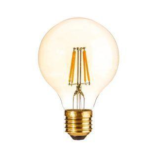 BOMBILLA LED TRANSPARENTE CRISTAL 8,10 X 8,10 X 12 CM.