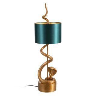TABLE LAMP SNAKE GOLD-GREEN 25.50 X 25.50 X 84.50 CM