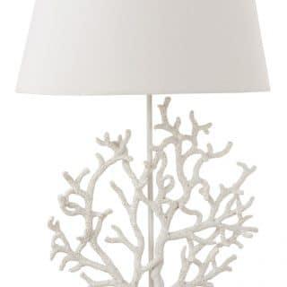 CORAL LAMP WHITE RESIN (44.5X25X69.5CM)