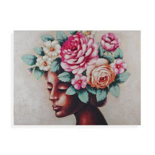 PICTURE WOMAN WITH FLOWERS 120x90