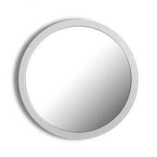 ROUND MIRROR WHITE WALL