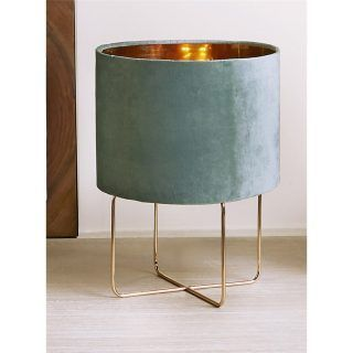 HEIKO 37CMS GOLD TURQUOISE LAMP