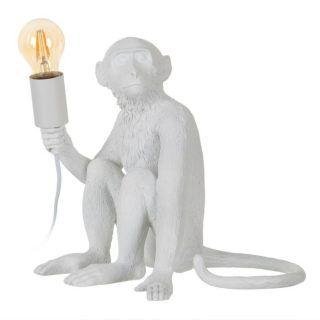 LAMP WHITE TABLE MONO POLYRESIN 30 X 29 X 30 CM