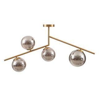 CEILING LAMP METAL-CRISTAL GOLD 100 X 15 X 57.50 CM