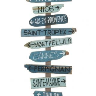POSTER CITIES PROVENZA WOOD BLUE MIX (50.5X3.3X127CM)