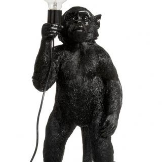 BLACK POLYRESIN MONO FLOOR LAMP (16X22X52CM)
