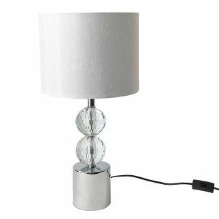OLIMPIA 50CMS SILVER TABLE LAMP